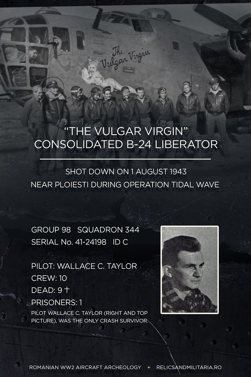 The Vulgar virgin shot down near Ploiesti Tidal Wave WW2