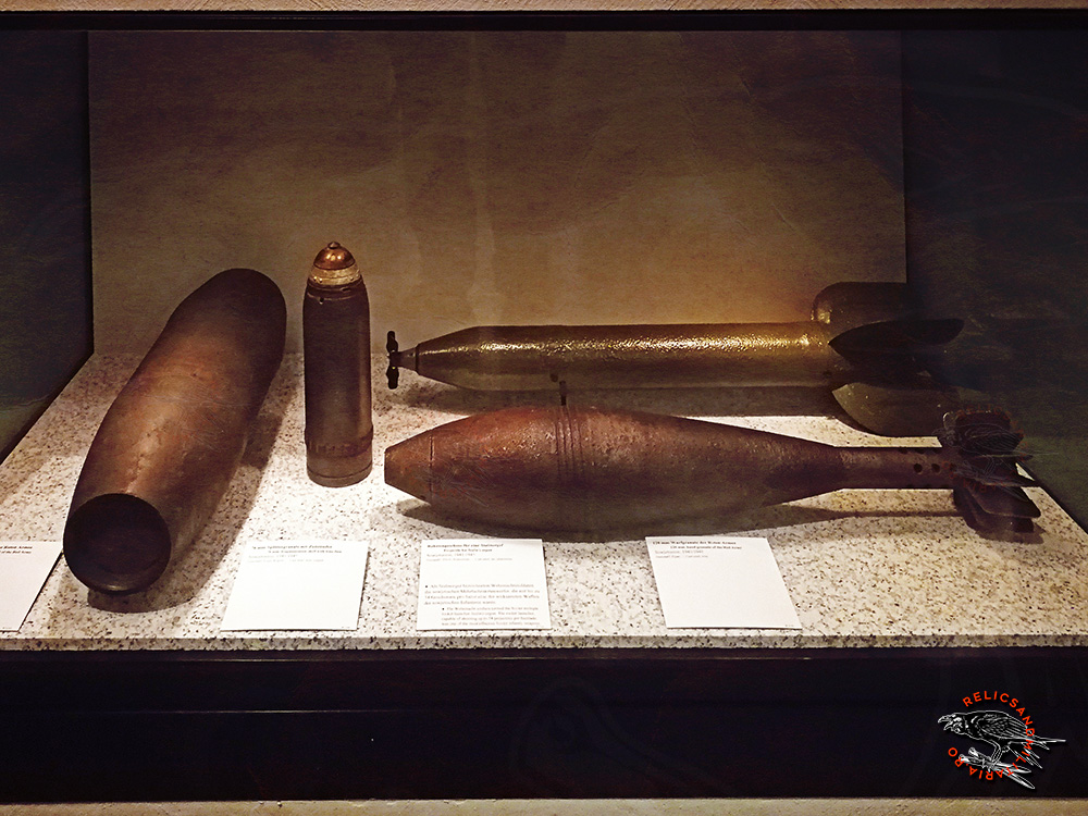 German ww2 Mortar and artillery shells