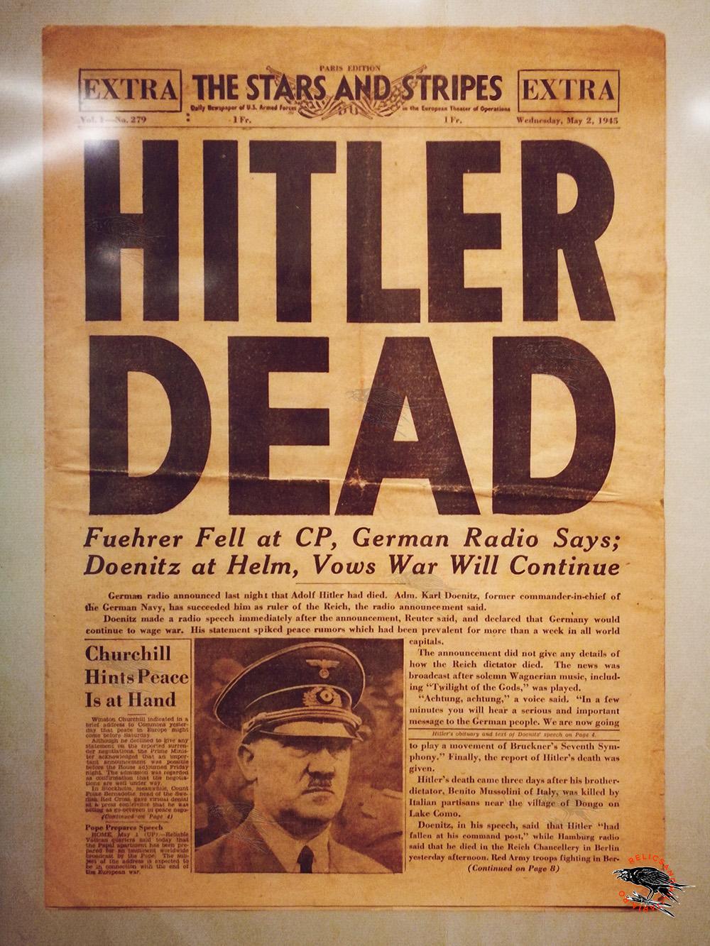 Hitler dead newsletter