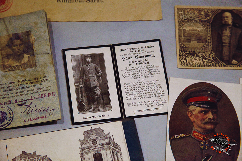 Dead Austro Hungarian Soldier Death card in Romania