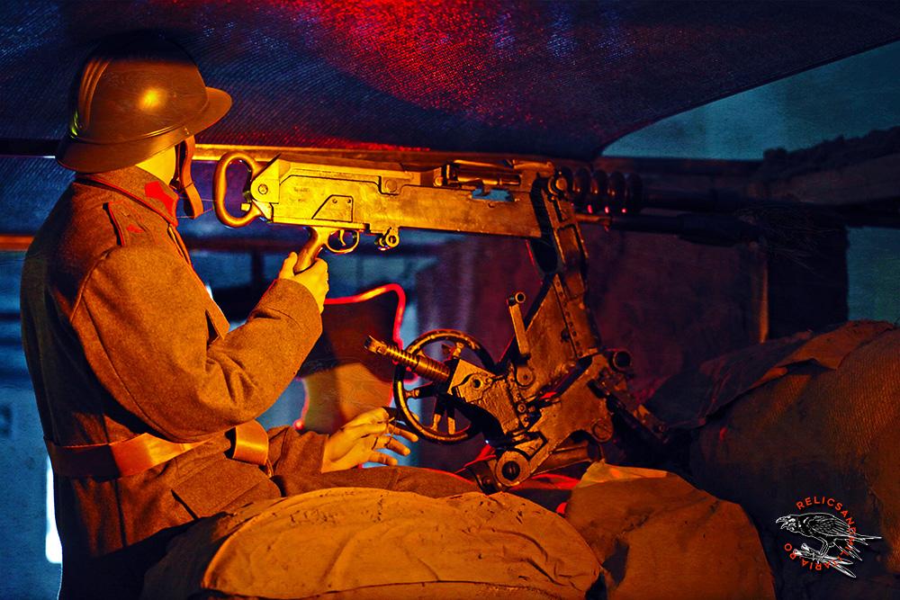 Romania Soldier WW1 Machine Gun