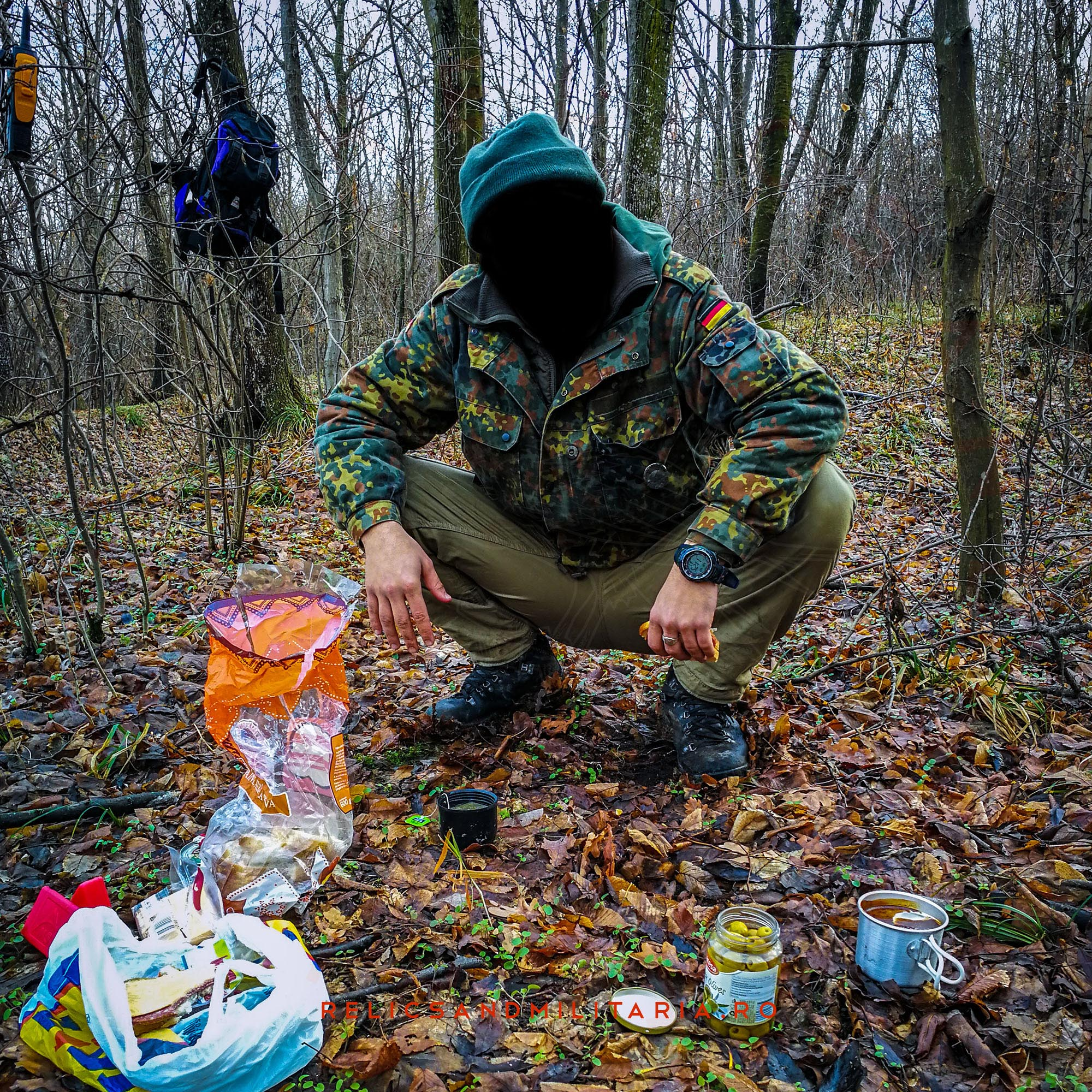 Gopnic in forest metal detecting in Romania