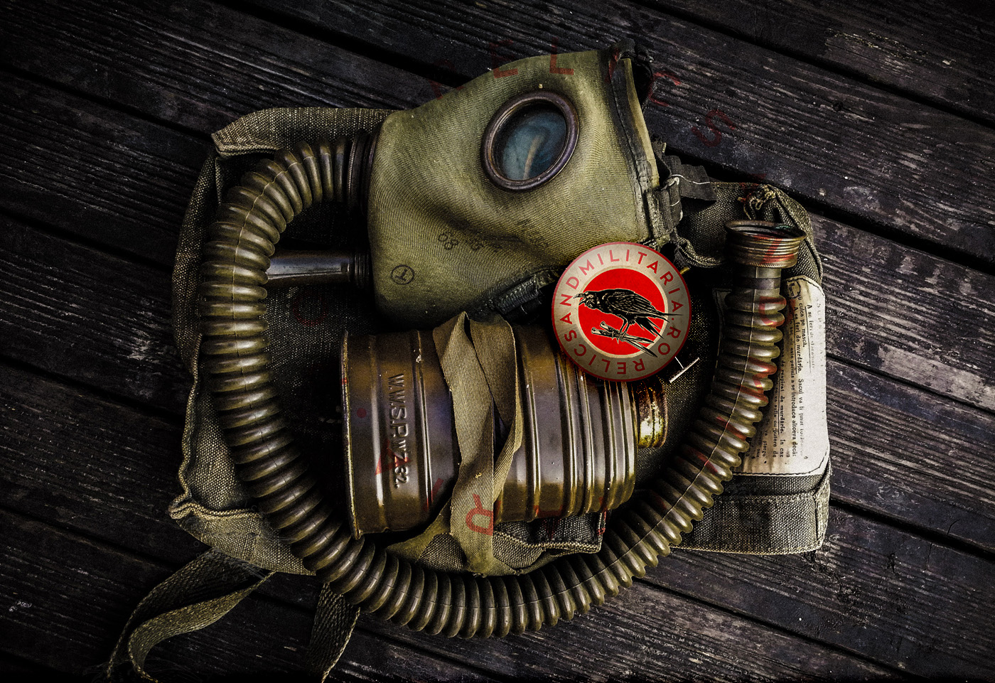 Romanian Army ww2 gas mask