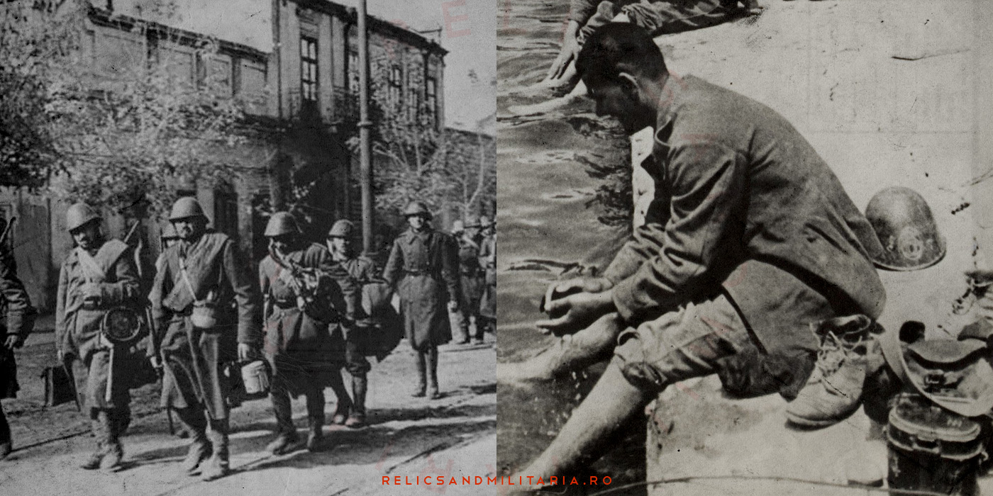WW2 Romanian soldiers with german mess tin