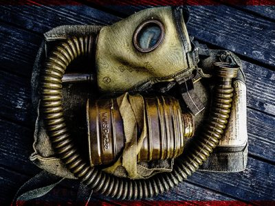 ROMANIAN ARMY MD32 GAS MASK – WW2