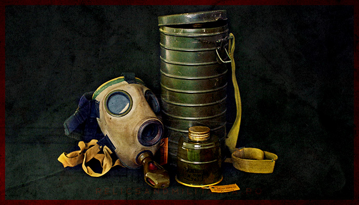 ROMANIAN CIVIL DEFENCE MD35 GAS MASK – WW2