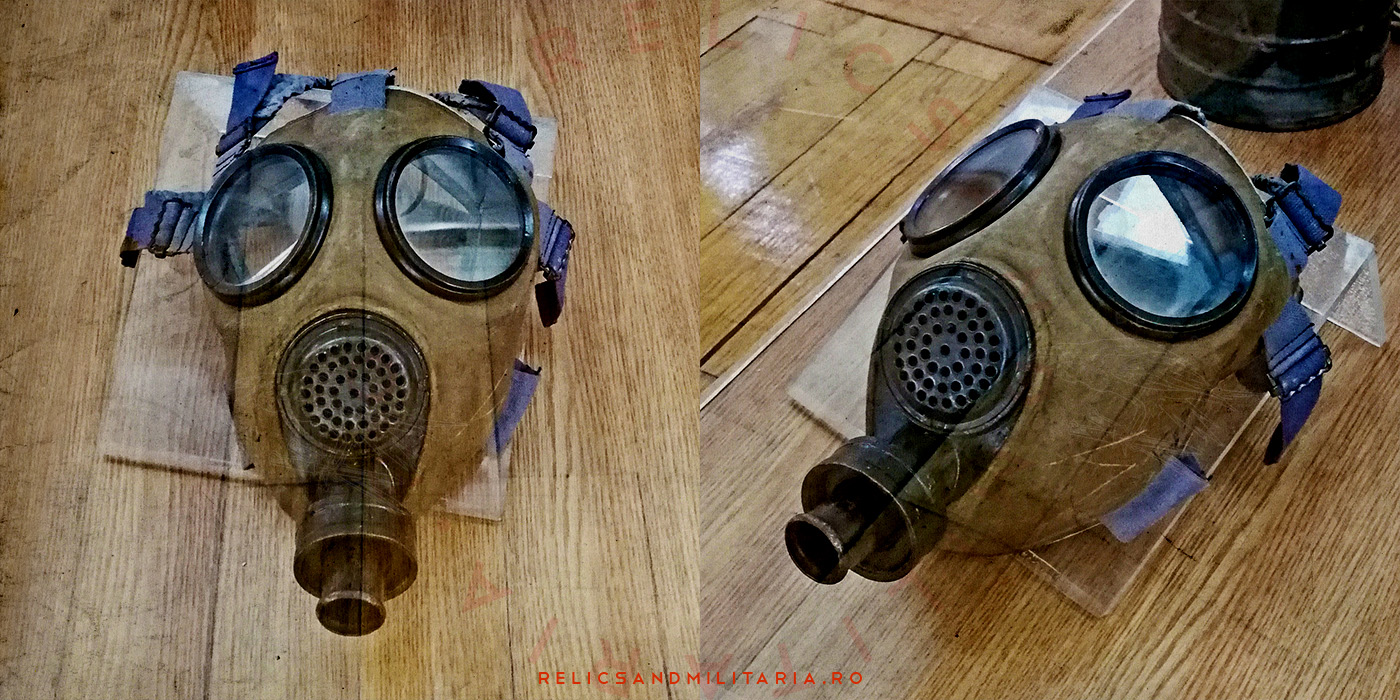 Romanian Army md39B gas mask
