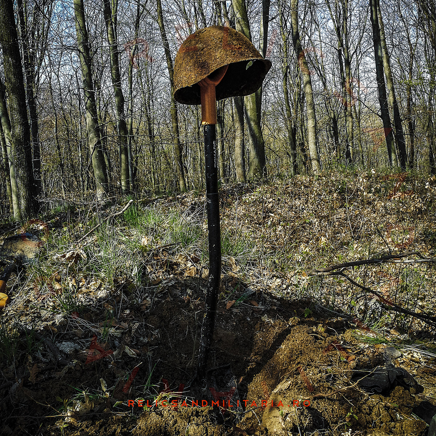 SSh-40 Red Army helmet found in Romania