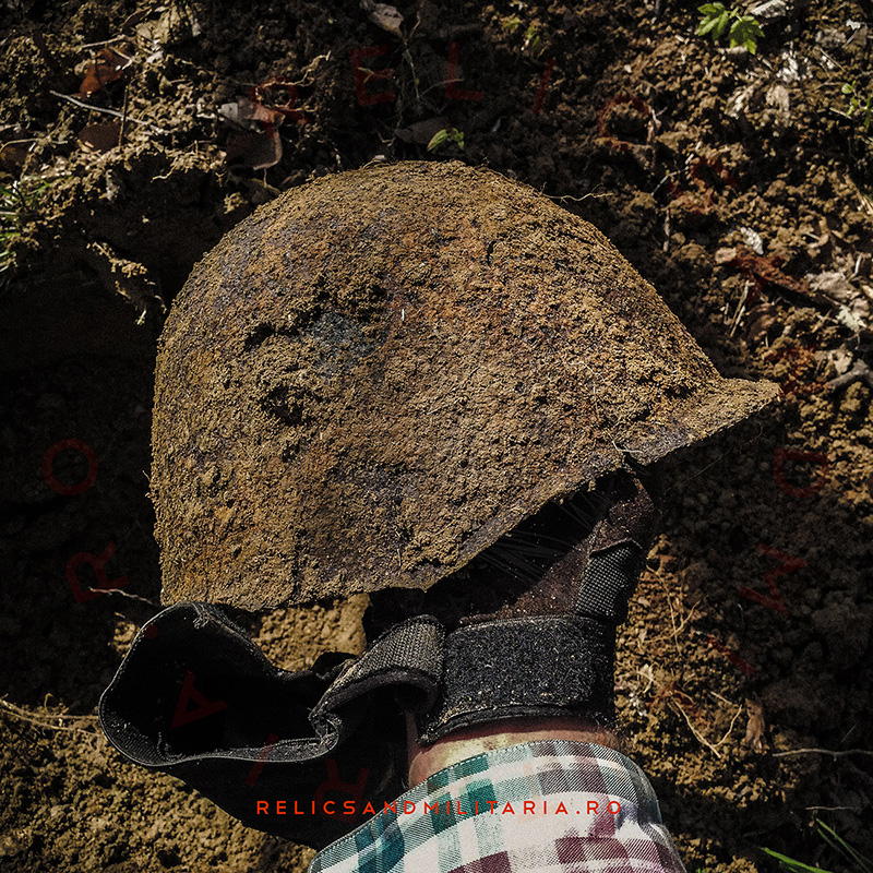 Metal detecting Russian Army helmet