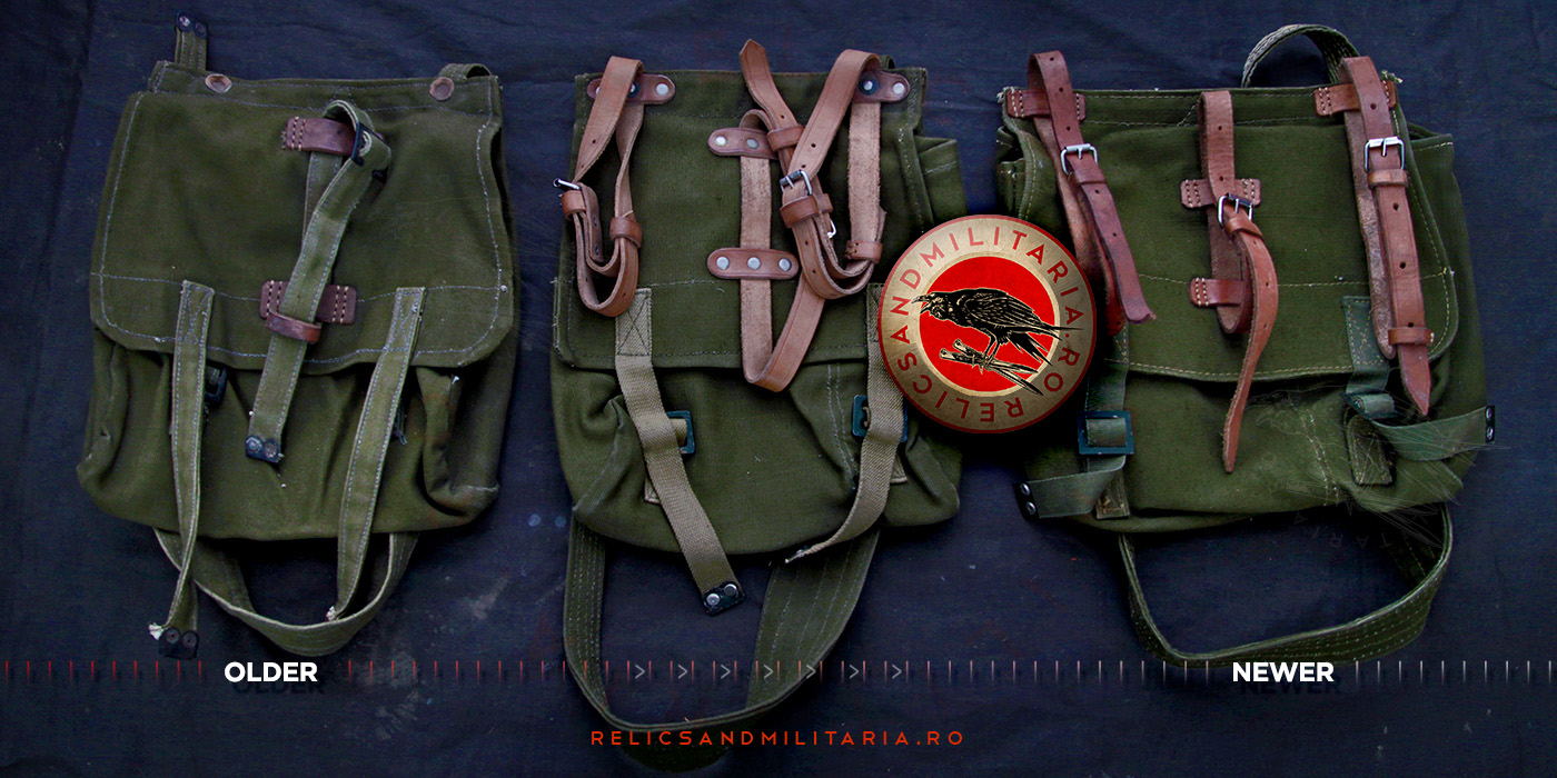 Types of Romanian Army Bread bags