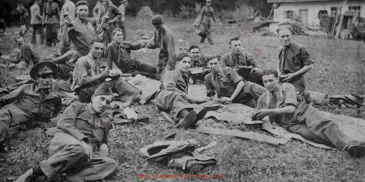 Romanian Soldiers Relaxing before WW2