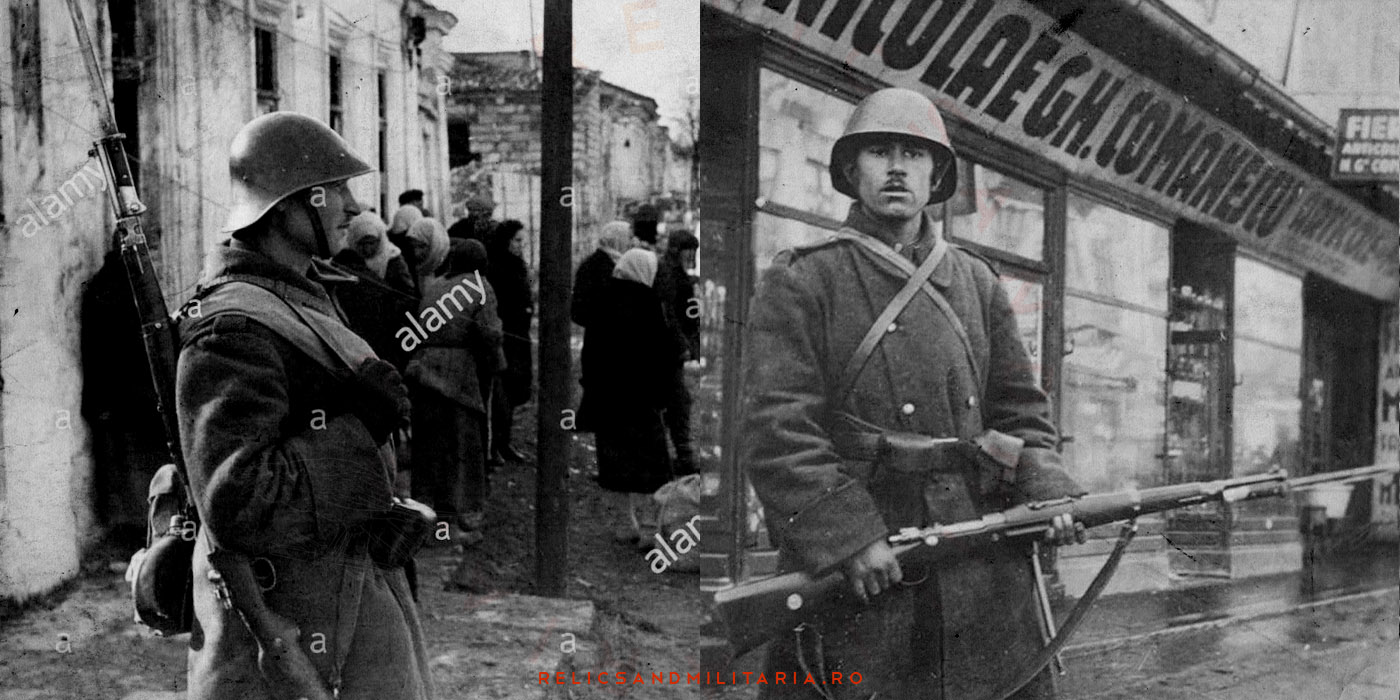 Romanian Soldier during WW2 with ZB VZ bayonet