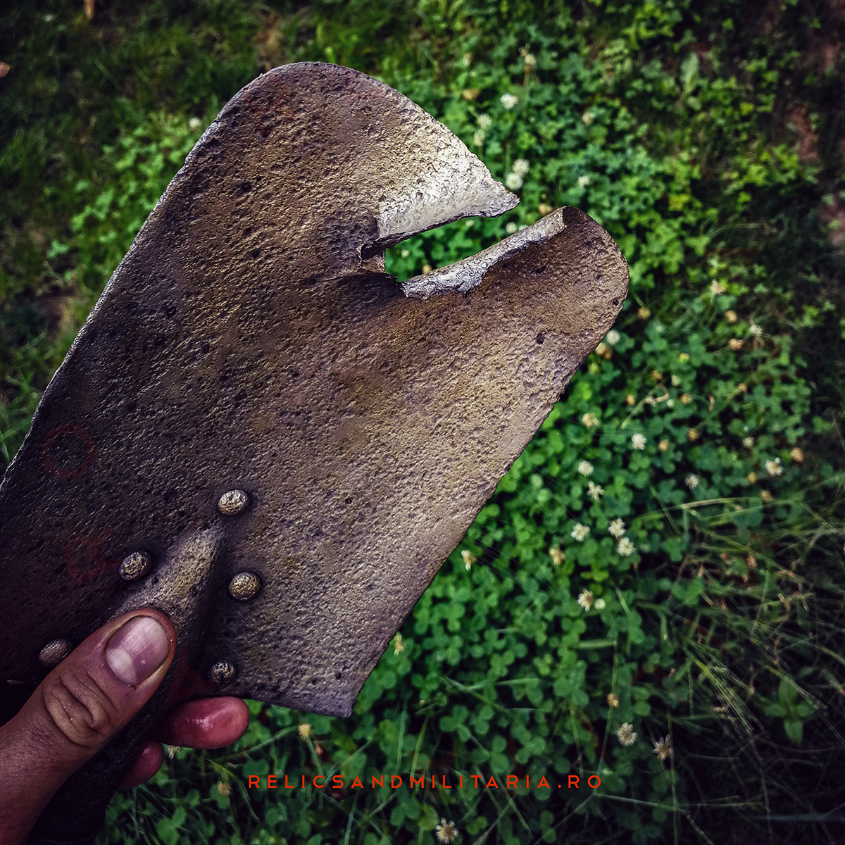Battle damage ww2 Entrenching tool