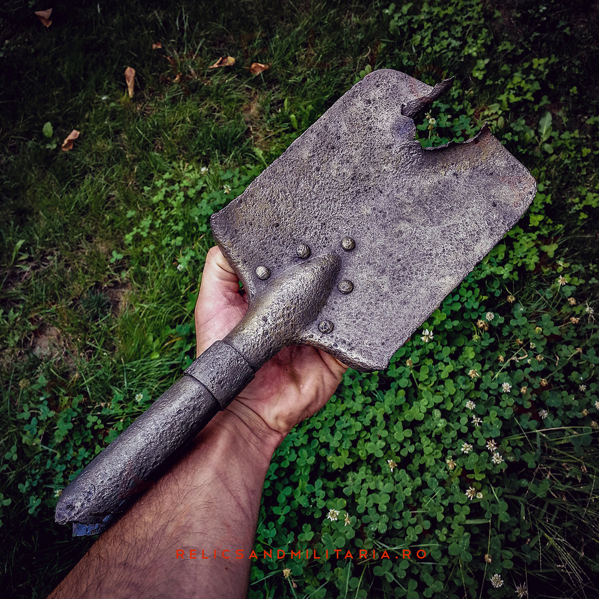 Entrenching tool with Bullet shot