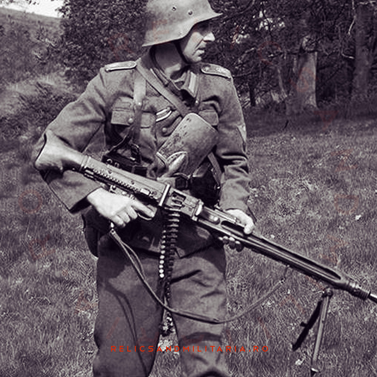 German soldier with entrenching tool
