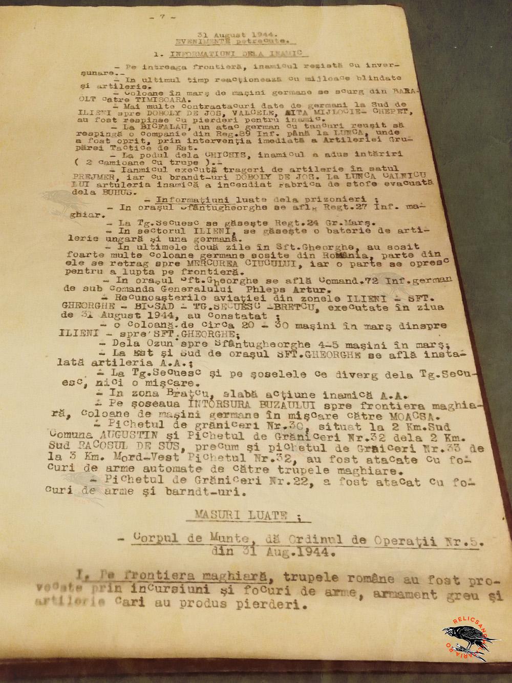 10 Jurnal de operatiuni Campania de eliberarea a Ardealului 1944