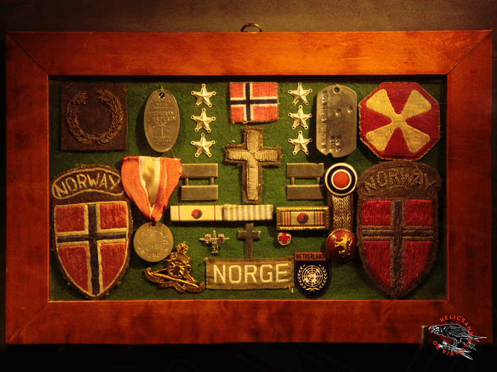 10 Norway ww2 badges and dogtags
