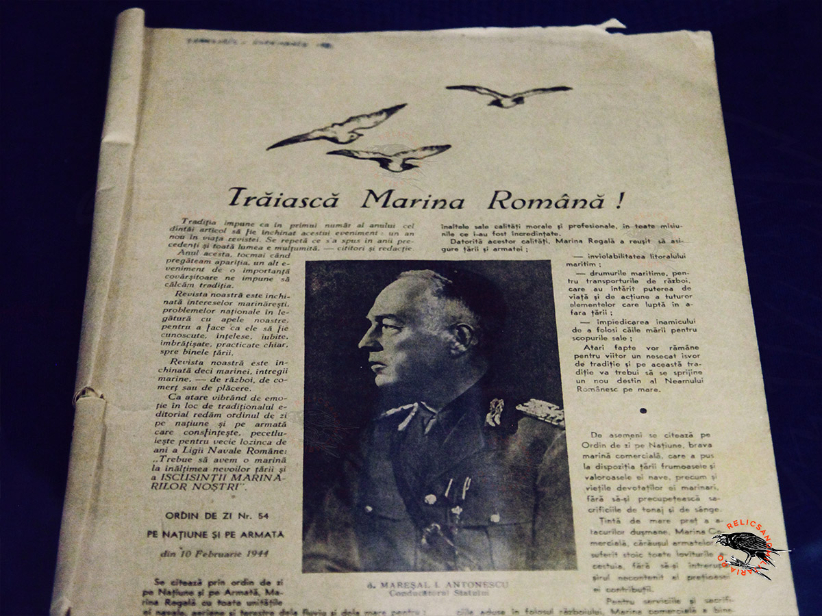 Ion Antonescu salutes the Romanian Navy WW2
