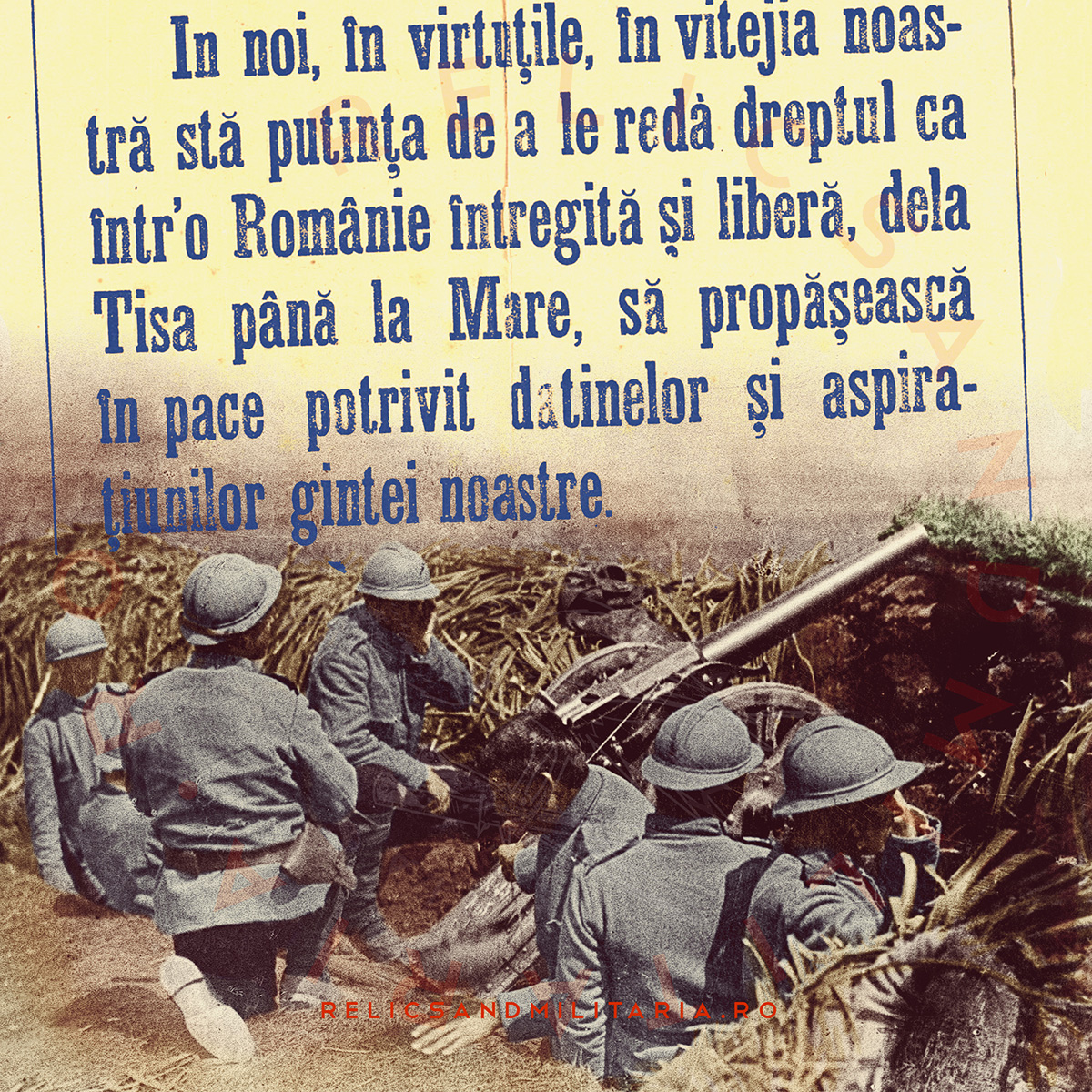 Romanian soldiers in trench ww1