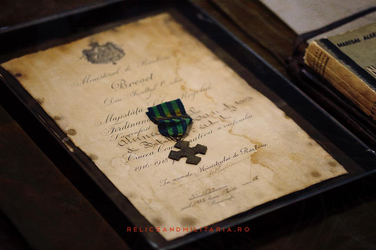 Medalie si brevet Crucea Comemorativa primul razboi mondial