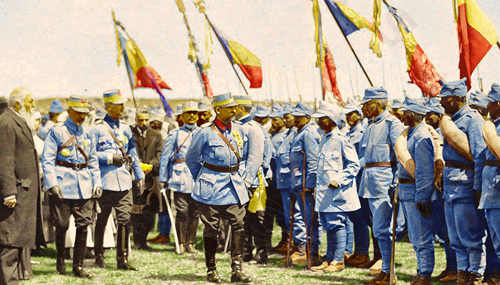 Colorized photographs of the Romanian Army in World War One