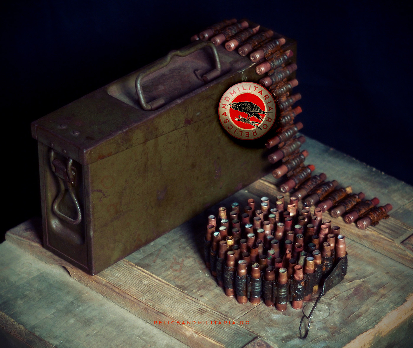 Zbrojovka ZB.37 ZB.53 Cal 7.92 Machine Gun ammunition box