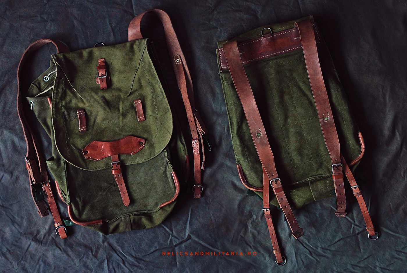 Romanian Army Militaria - soldier's backpack used in World War Two