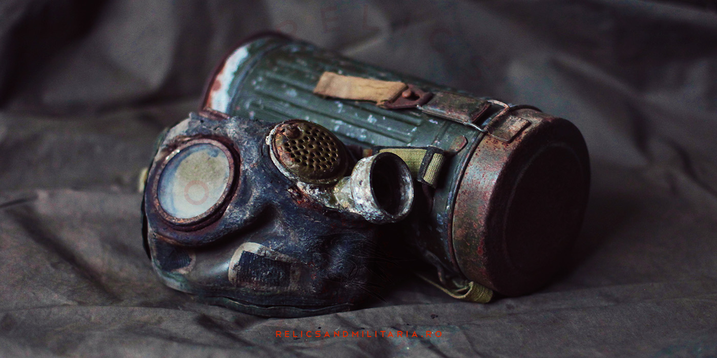 Romanian Model 39B Gas mask used in ww2