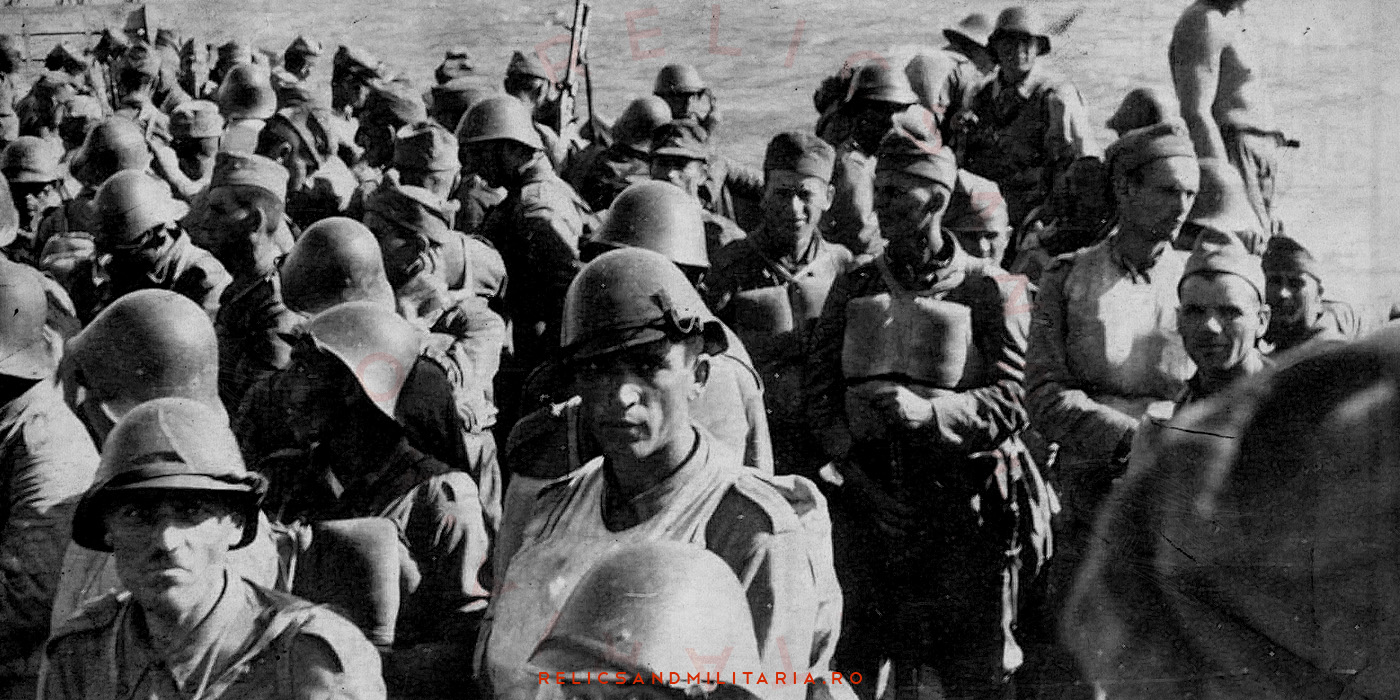 Romanian Soldiers wearing the Dutch m34 steel helmet in ww2