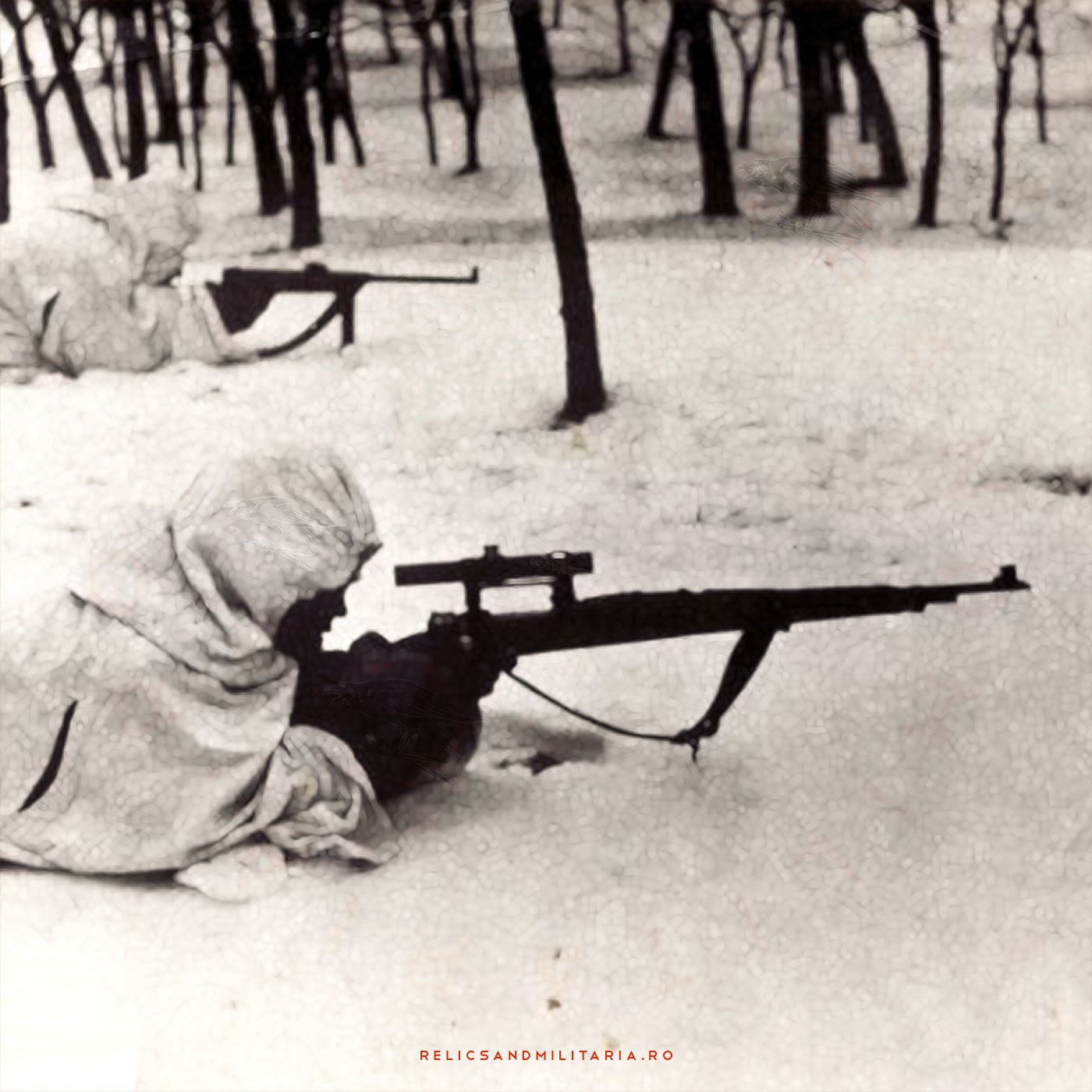 Romanian Army snipers in World War Two