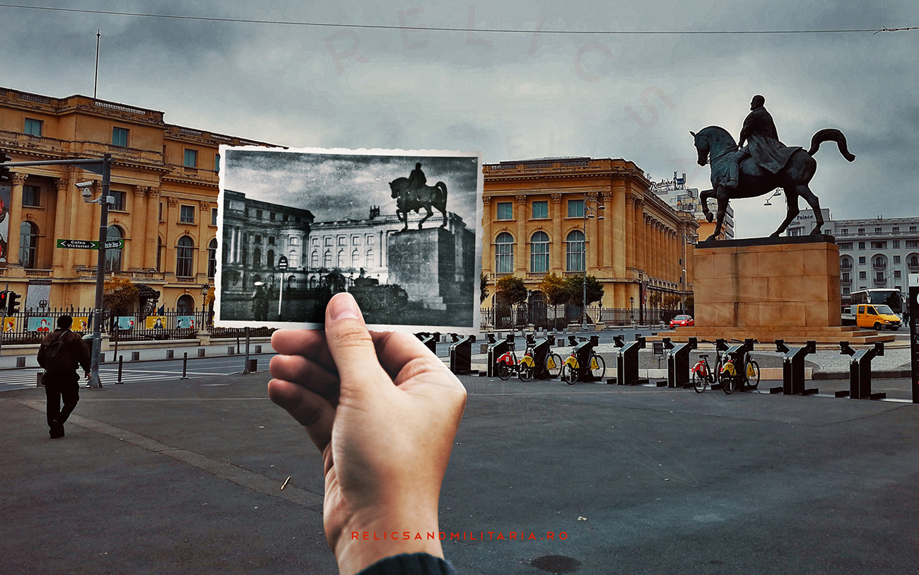 Now and then - World War Two Tanks in Bucharest