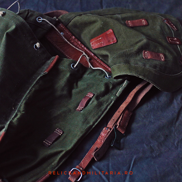 Romanian Army Militaria - backpack used by soldiers in World War Two