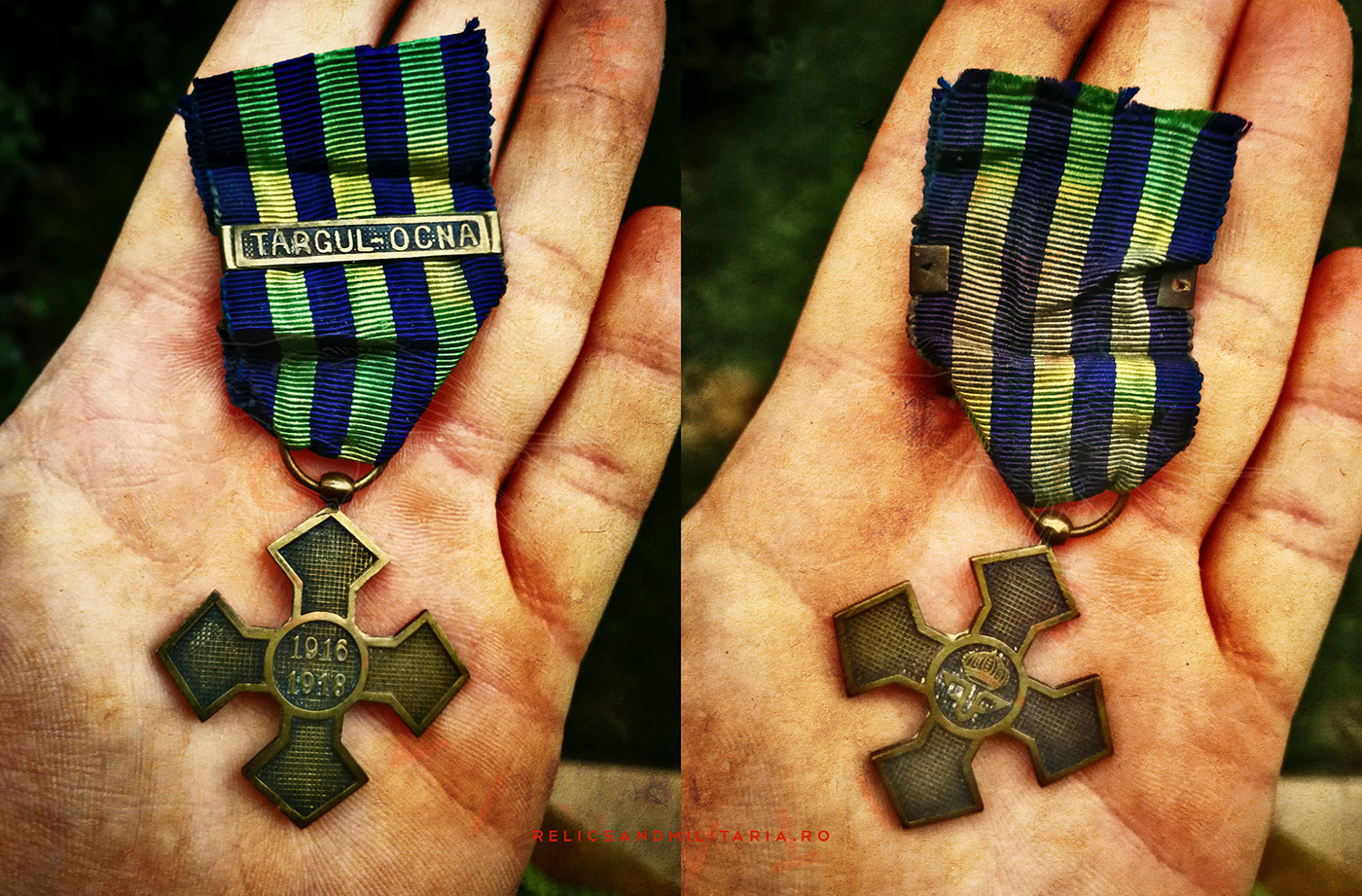 Romanian World War One Commemorative Cross Medal