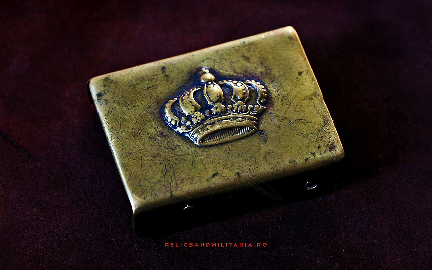 Romanian World War Two Royal Crown belt buckle
