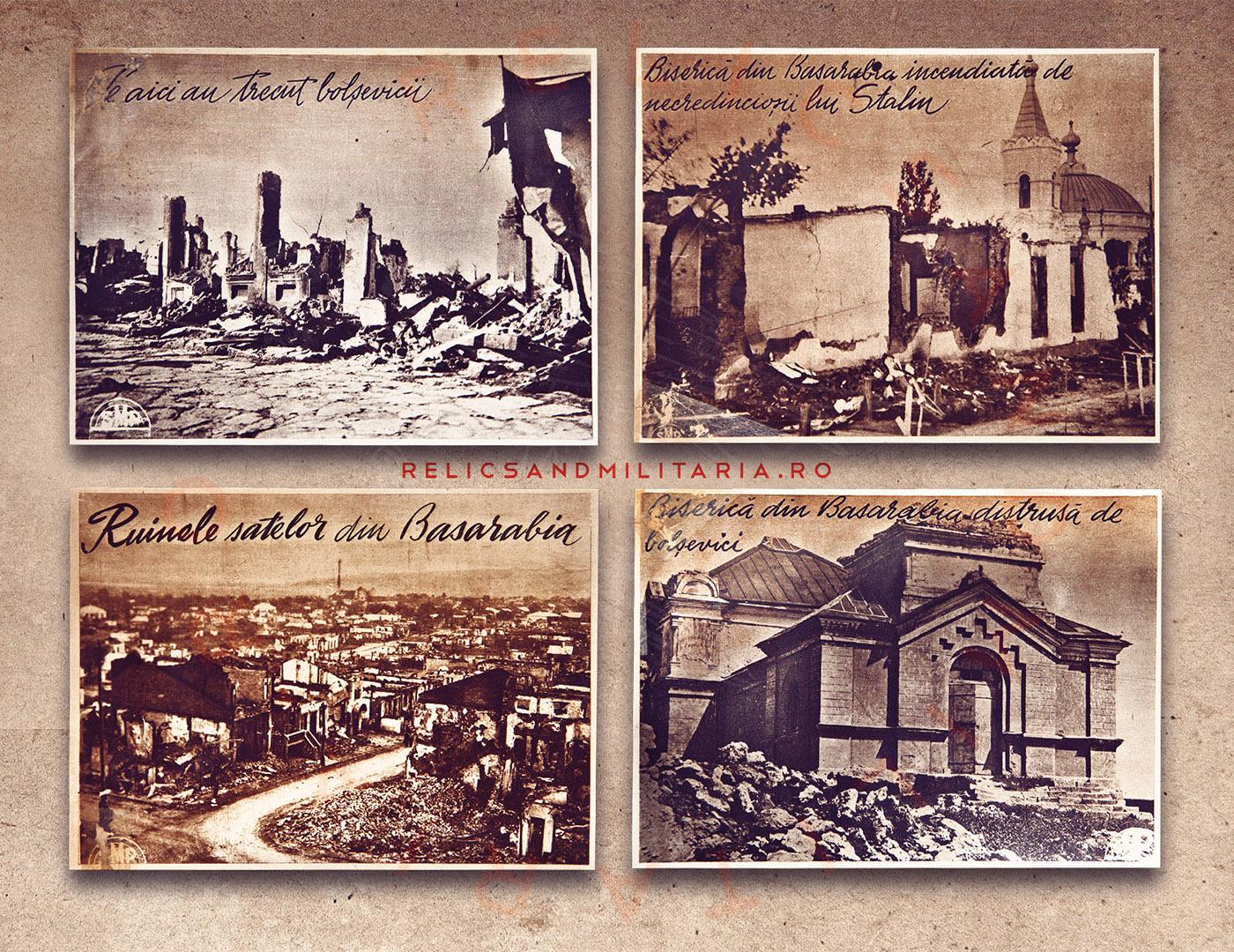 Ruinele cladirilor din Basarabia distruse de bolsevici in al doilea razboi mondial