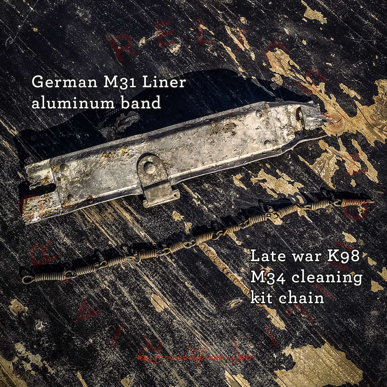 WW2 German Helmet parts - M31 Liner aluminium band