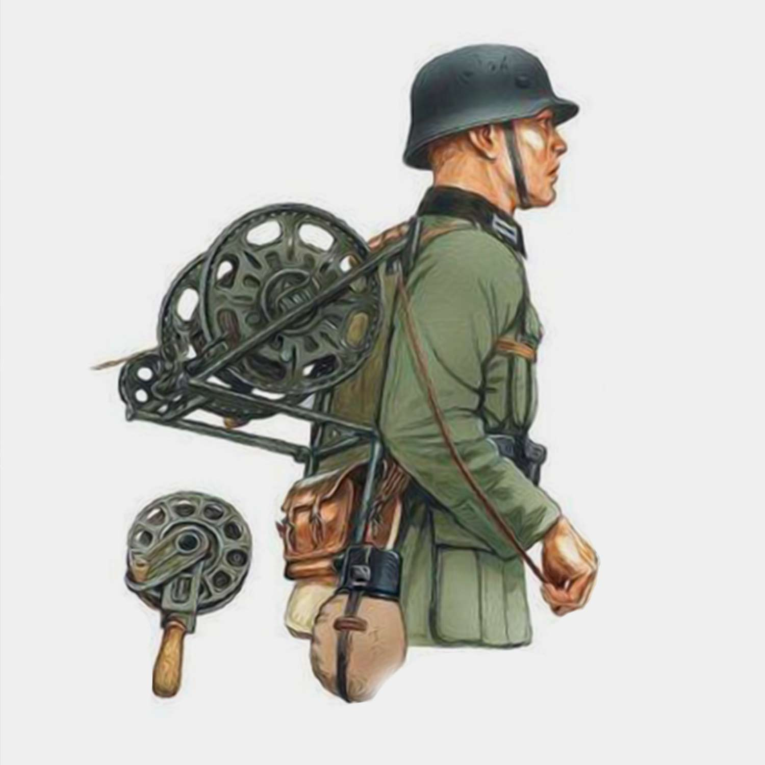 Wehrmacht radio cable roll