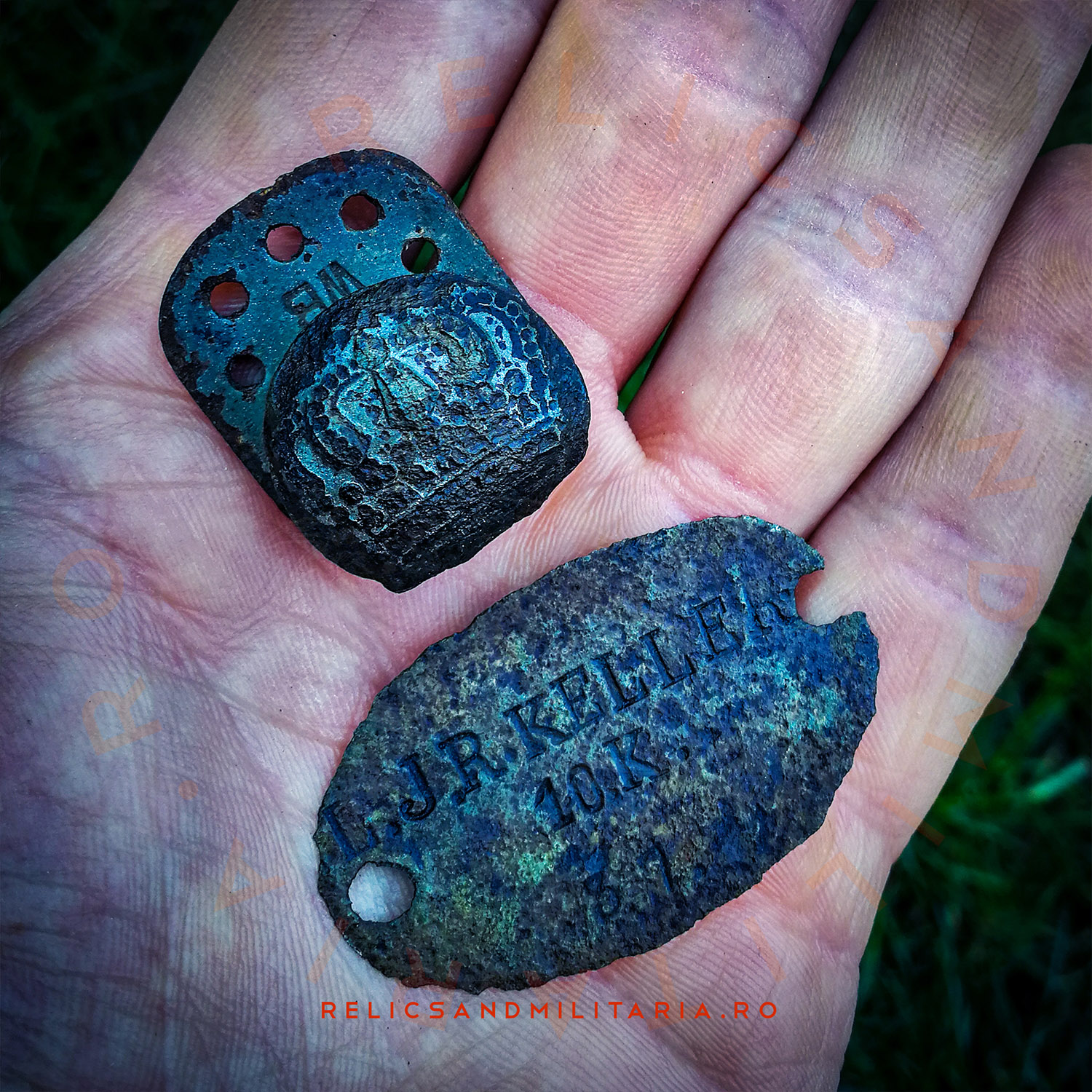 1878 type Erkennungsmarke WW1 German 89 Infantry Division Dog Tag Leichte Infantry Regiment Keller 10 companie