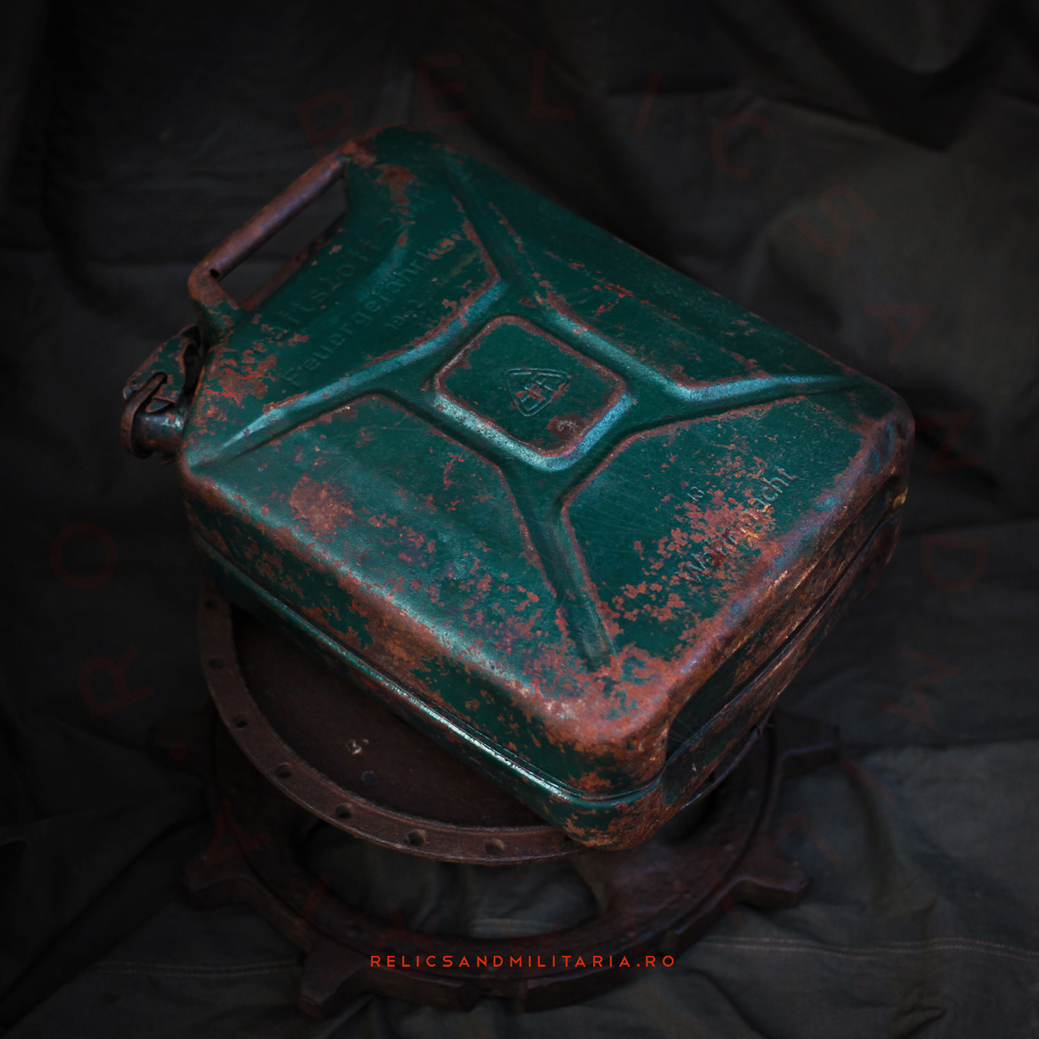 German WWII Wehrmacht 20 Liters Petrol Jerry Can - Dated 1942