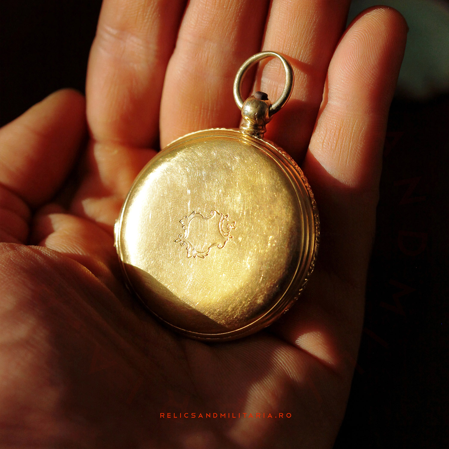 Jules Calame Robert 18k gold pocket watch made in London