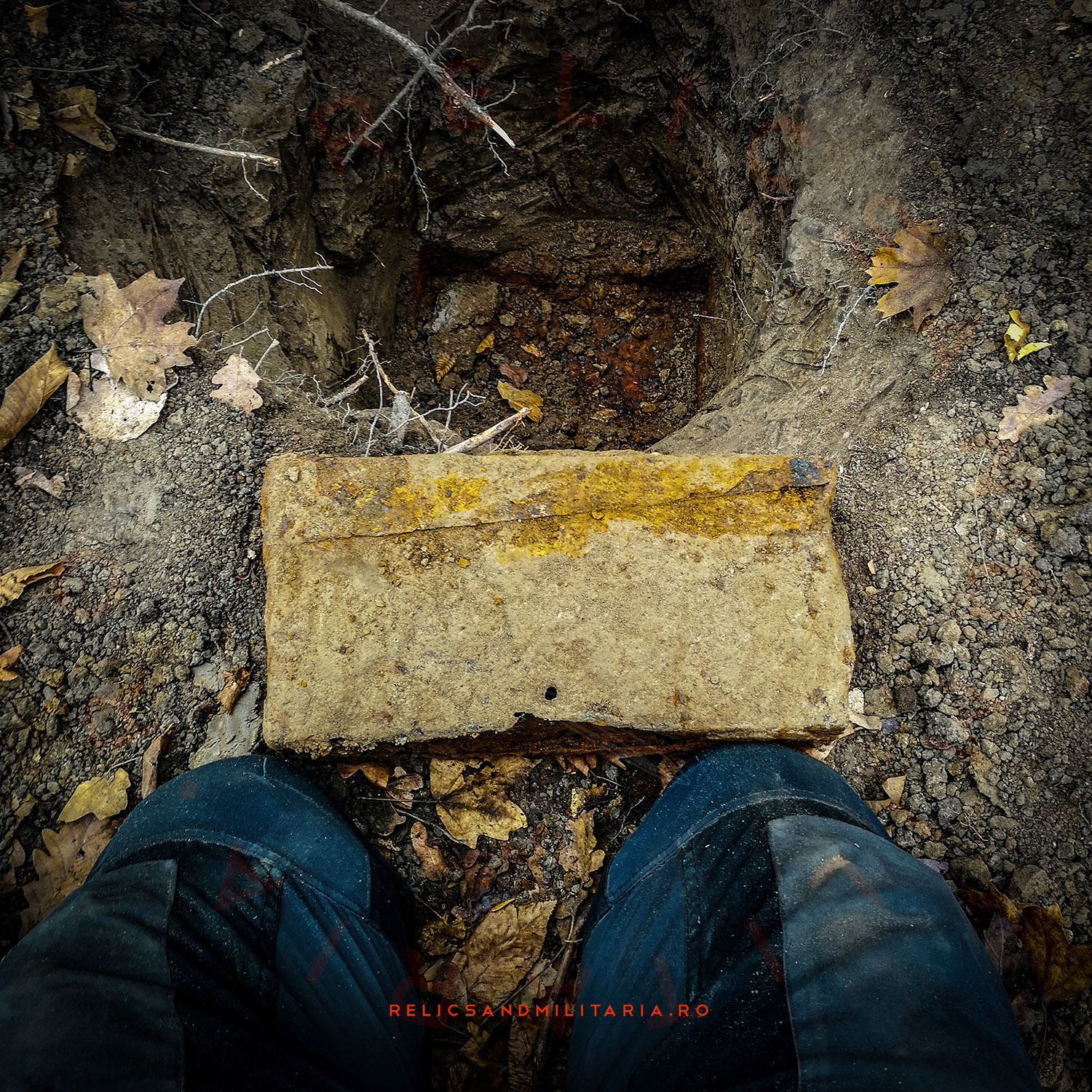 ZB-53 VZ-53 machine gun empty ammo box found metal detecting in Romania