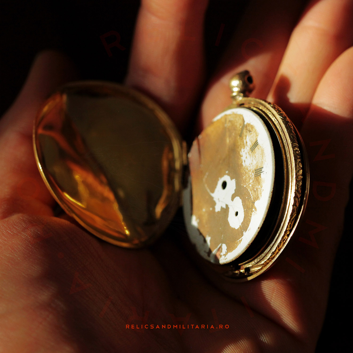 18k gold pocket watch made in the 1800s era by Jules Calame Robert in London
