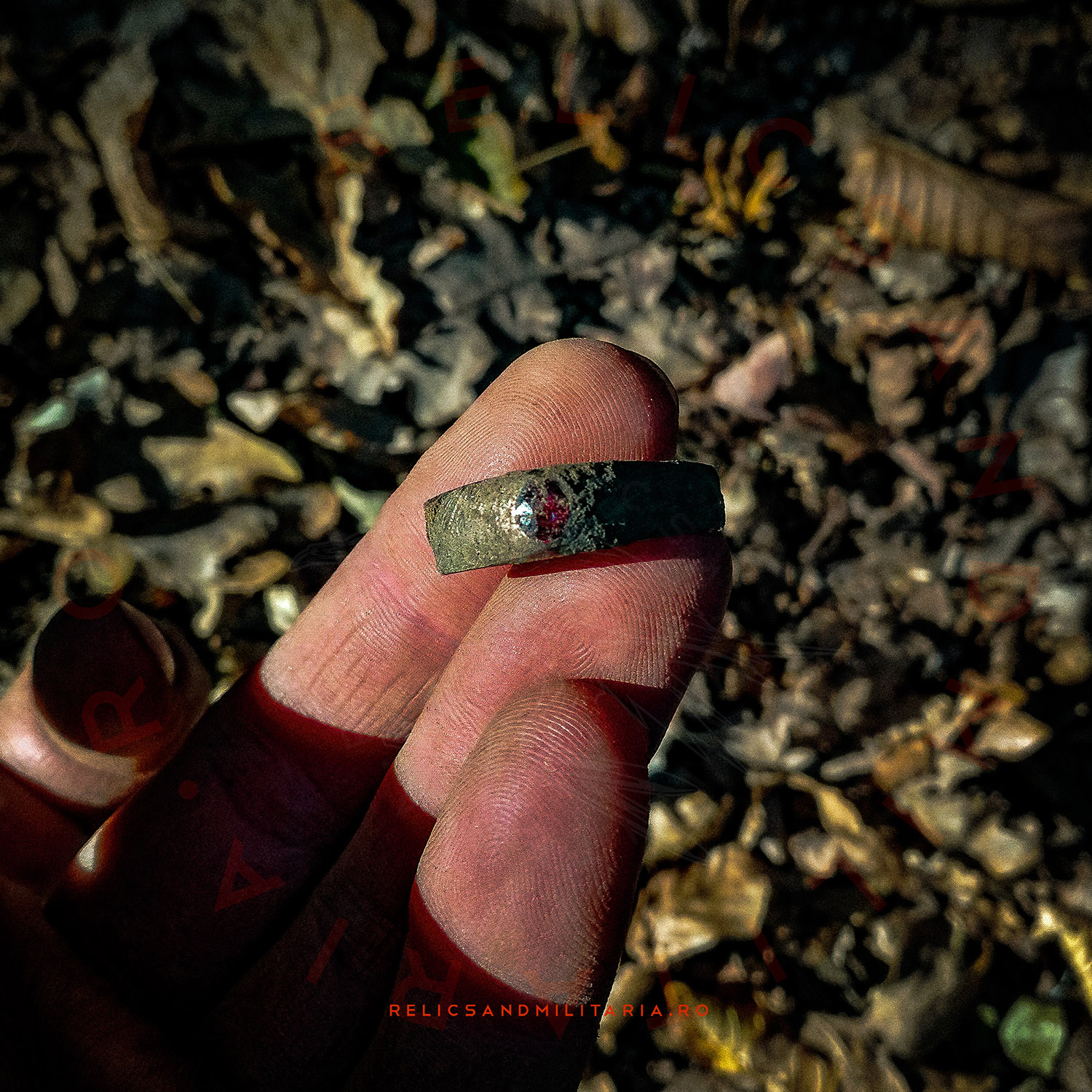 Metal detecting gold ring