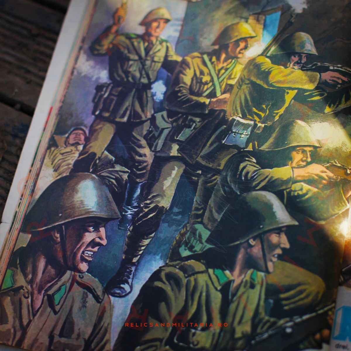 Romanian Communist Party propaganda book for kids adout the Romanian Army in ww2