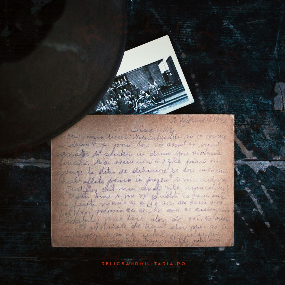 WW2 Romanian Army Post card in Stalingrad