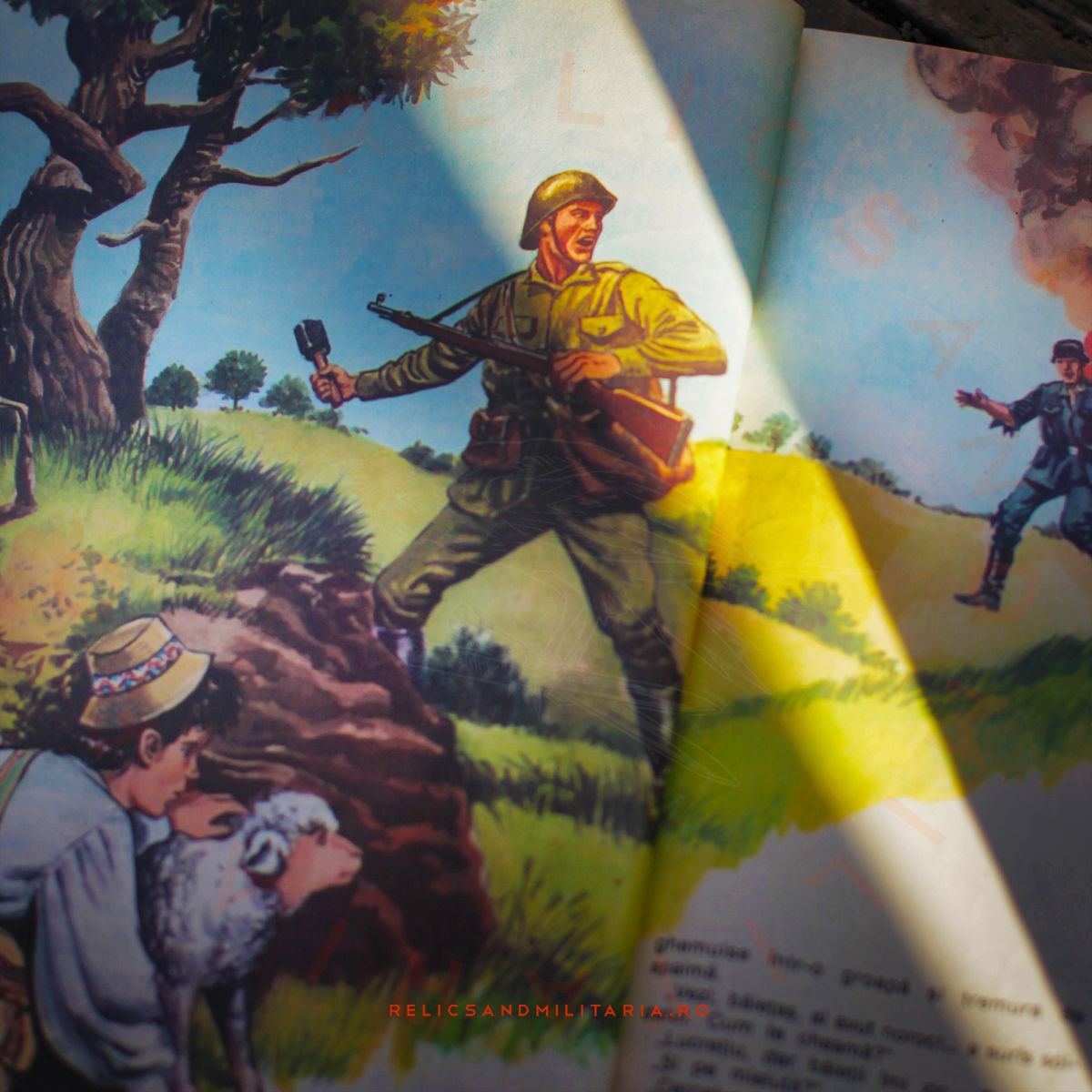 Romanian Army in ww2 Romanian Communist Party propaganda book for kids