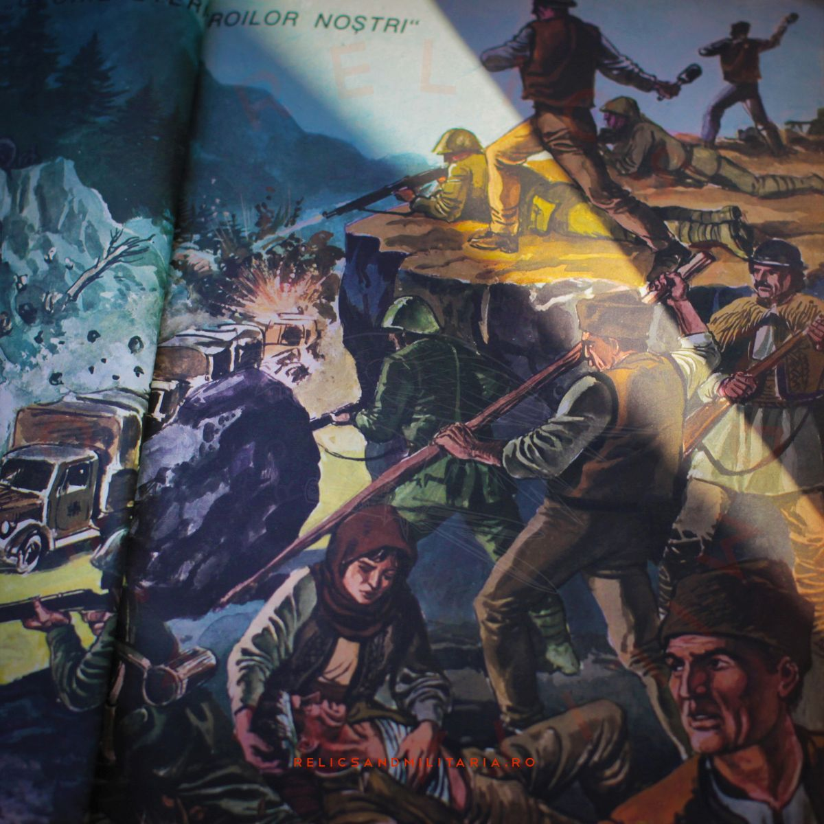 Communist Party propaganda book for kids about Romania in WW2