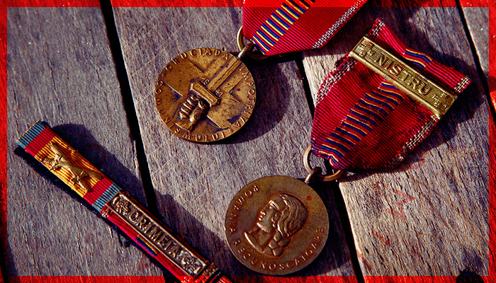 Crusade Against Communism medal for soldiers that took part in Operation Barbarossa