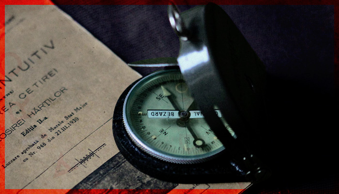 Original Bezard World War 2 compass used by the Romanian Army